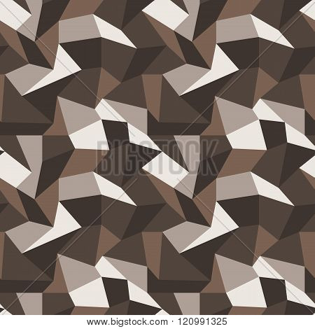 Seamless vector pattern with multi-colored quadrangles