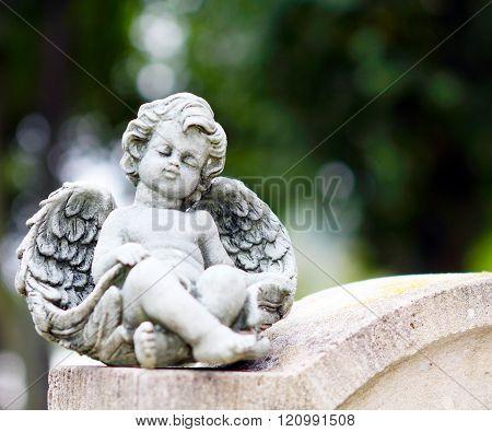Angel On Grave Stone