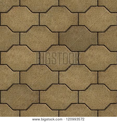 Sand Color with Scuffed Wavy Paving Slabs.