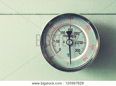 vintage the  Thermometer oven baking for background