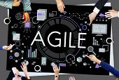 Agile Agility Nimble Quick Fast Concept poster