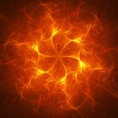 chaos fire flame rays on red background poster