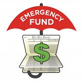 Financial Emergency Fund Savings Account to Protect from Home, House, Car or Vehicle Damage, Job Loss or Unemployment, and Hospital or Medical Bills poster