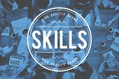 Skills Talent Expert Aptitude Proficiency Professional Concept poster