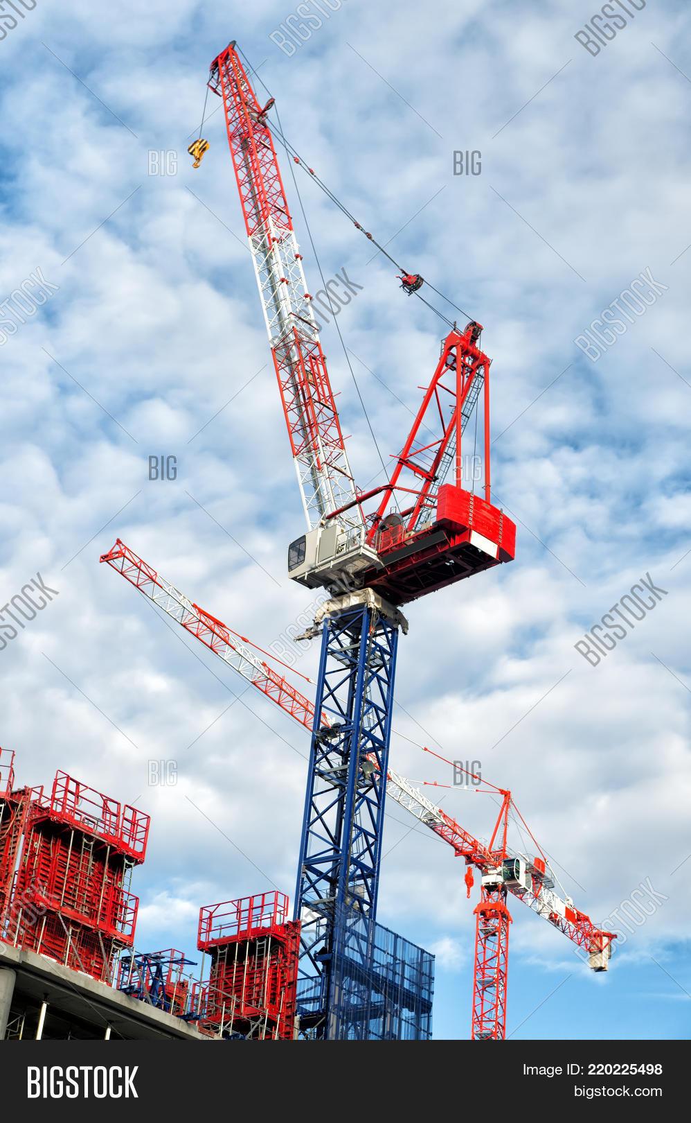 Construction Cranes On Image & Photo (Free Trial) | Bigstock