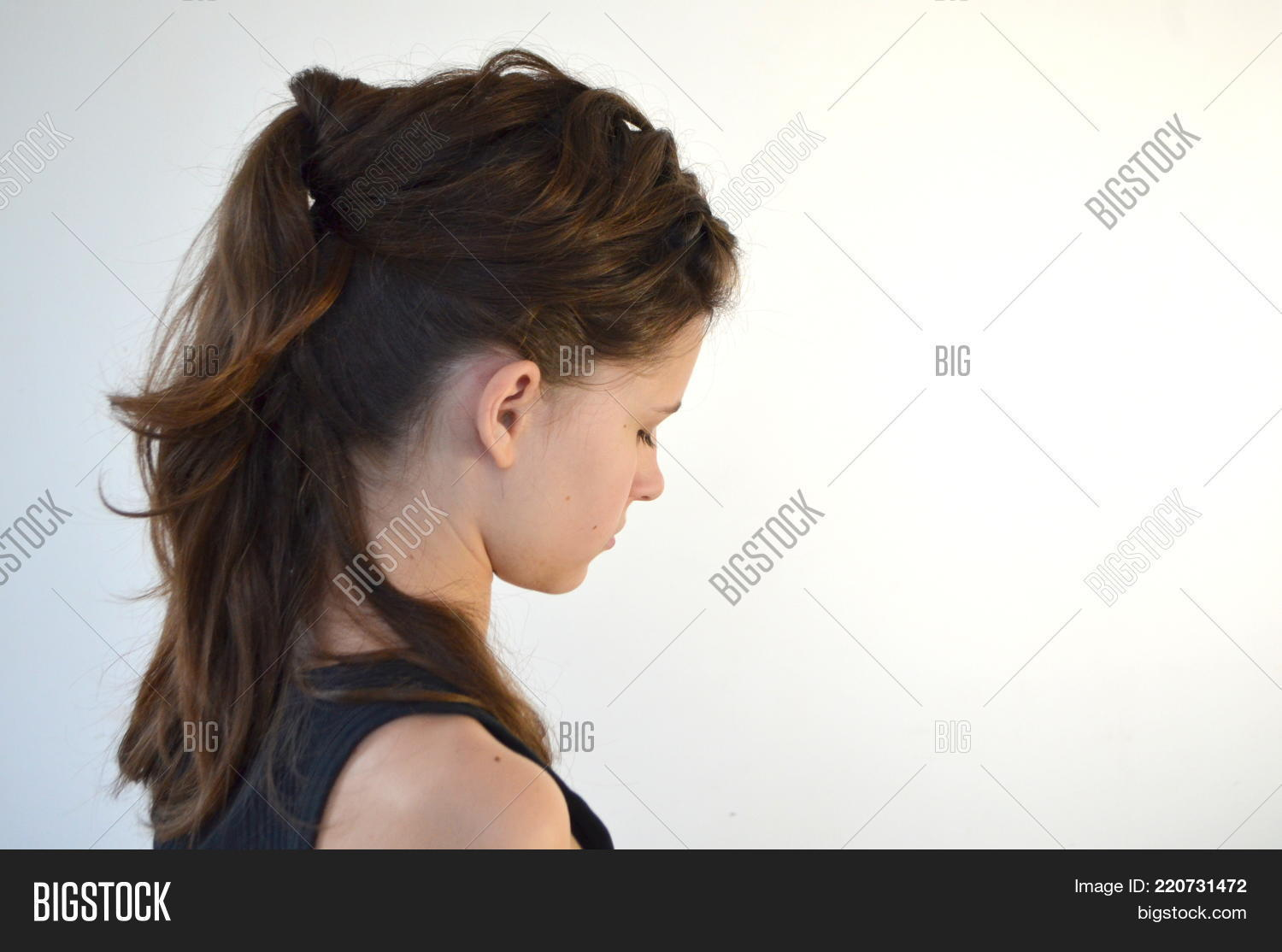 Hairstyles On Medium Image Photo Free Trial Bigstock