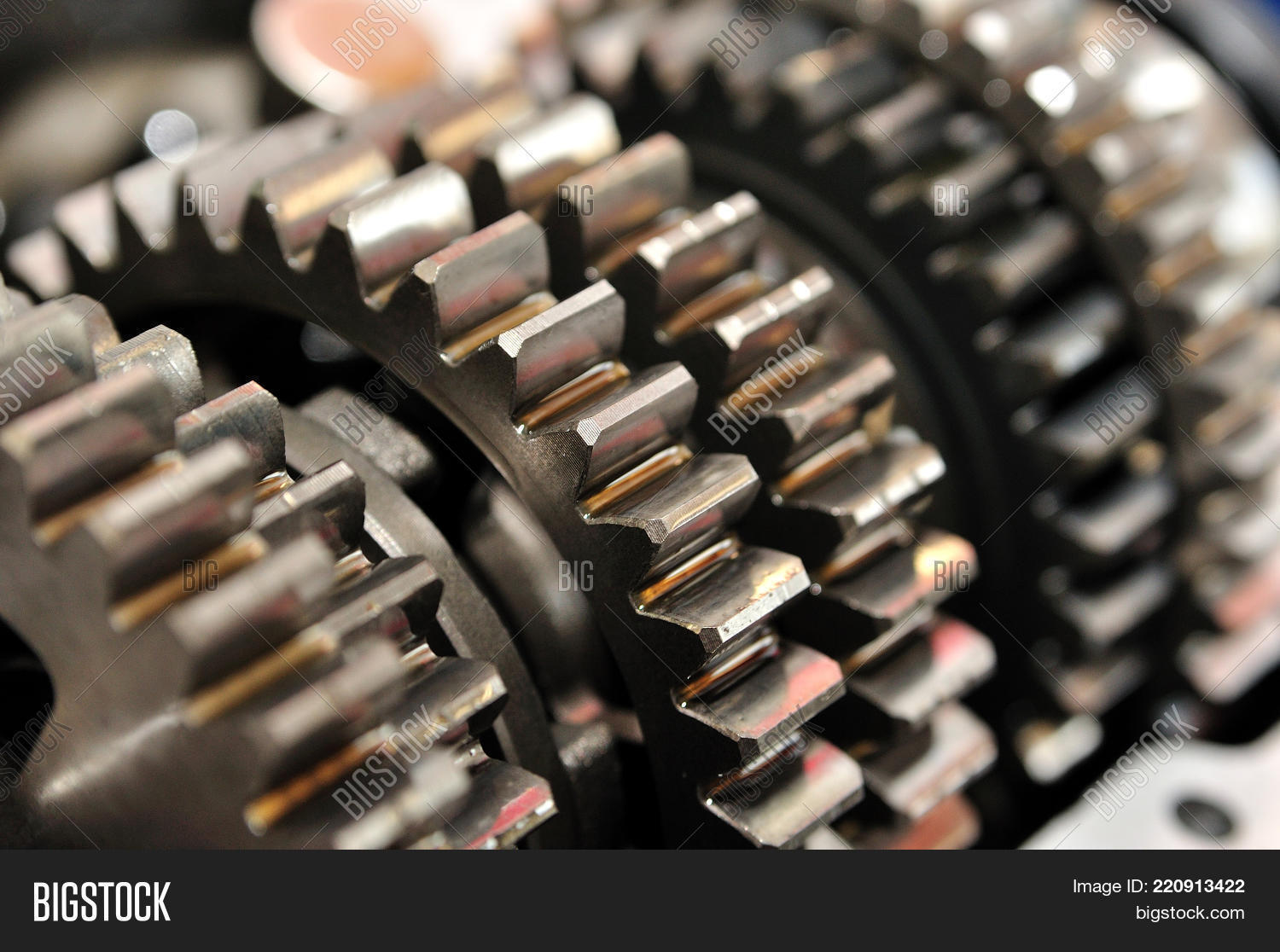 Gears Motorcycle Image Photo Free Trial Bigstock Gear Box Of From A Gearbox With Selective Focus