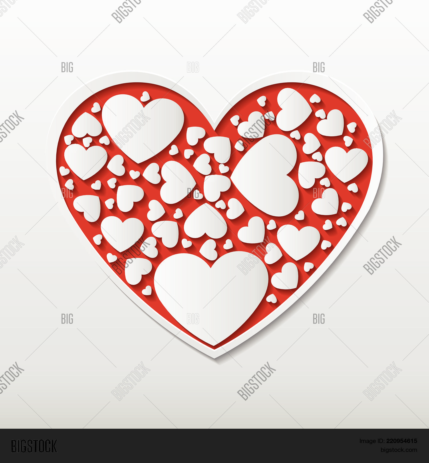 Beautiful Red Paper Vector & Photo (Free Trial) | Bigstock