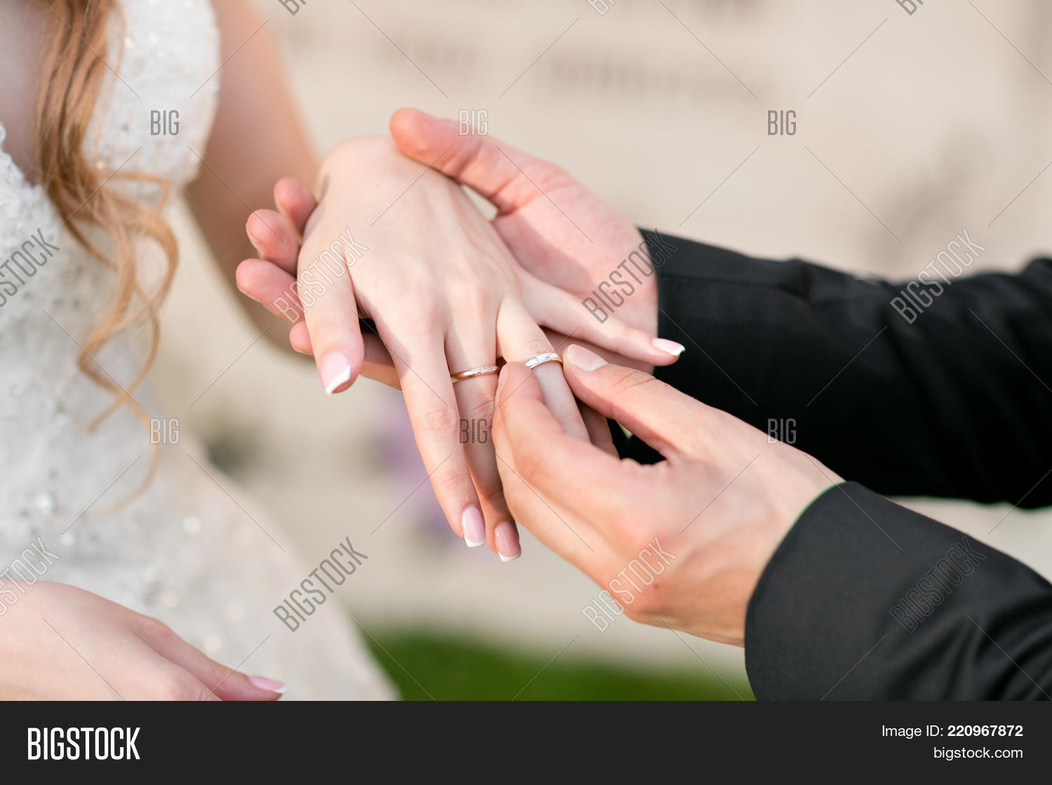 Wedding Rings Hands Image & Photo (Free Trial) | Bigstock