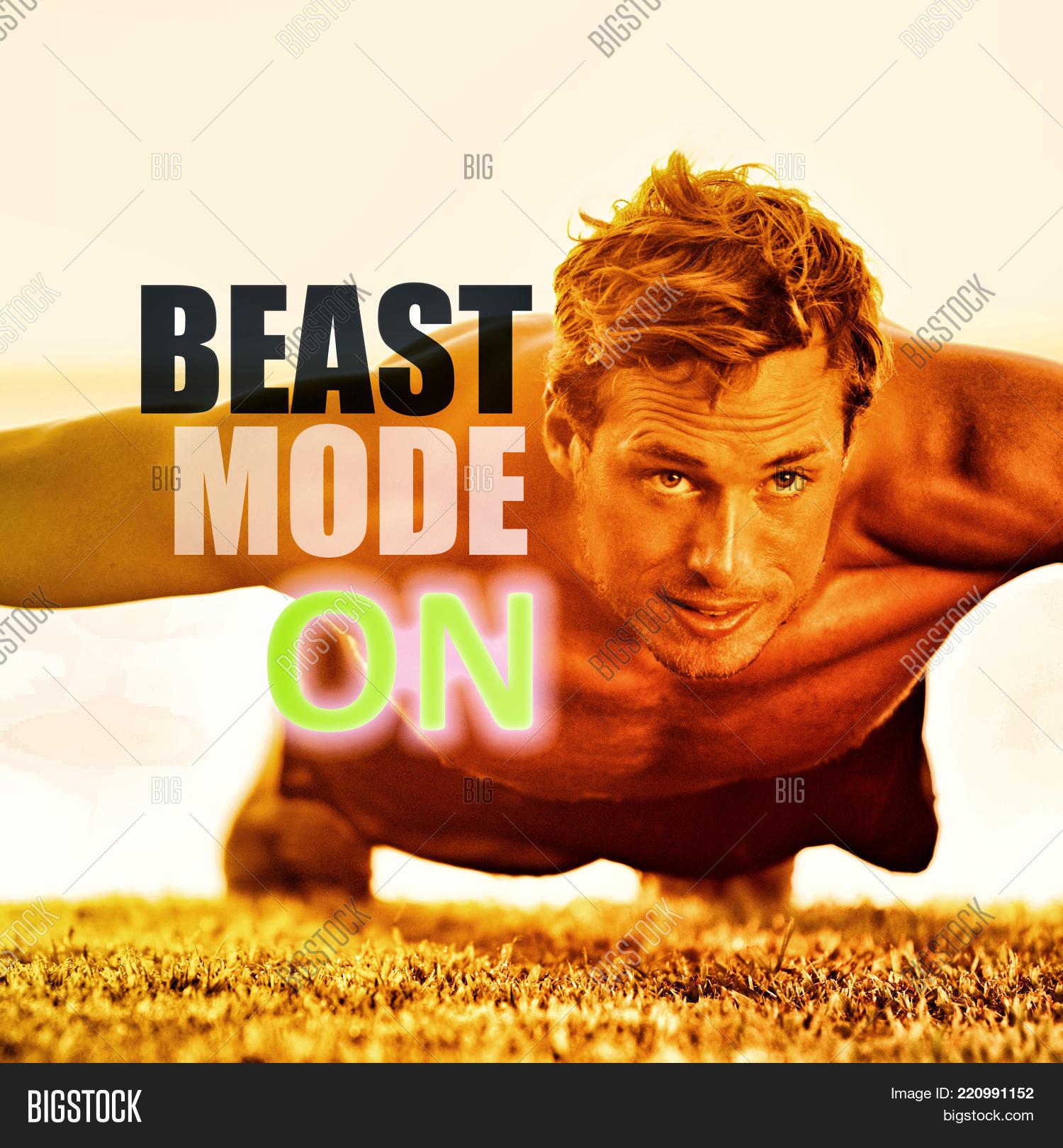 Fitness Man Working Image Photo Free Trial Bigstock