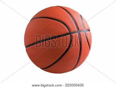 Basketball Isolated On Image Photo Free Trial Bigstock