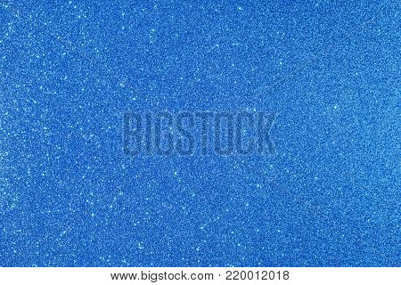 Shiny glimmering blue texture poster