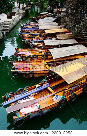 Scene from the water town of Tongli near Suzhuo China