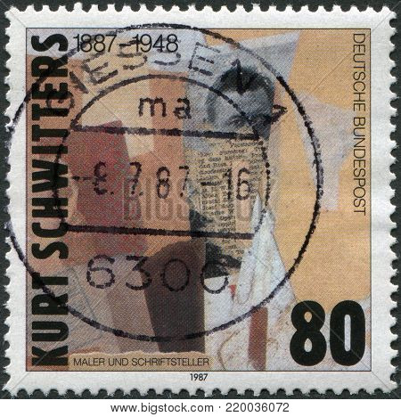 GERMANY - CIRCA 1987: A stamp printed in Germany, shows the painting