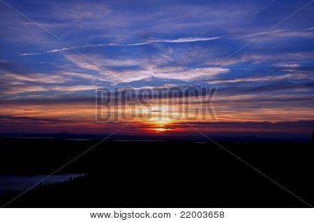 Beautiful sunset in Acadia