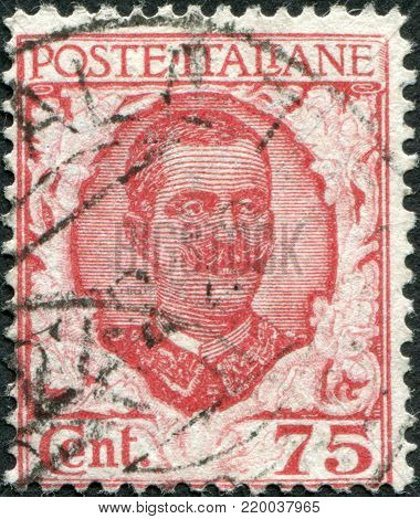 ITALY - CIRCA 1926: A stamp printed in Italy, shows the King of Italy Victor Emmanuel III, circa 1926