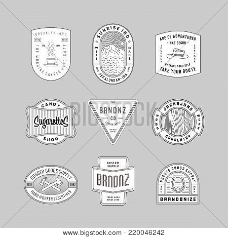 vintage logo, insignia & badges 6. perfect for identity, logo, insignia or badge design with retro vintage looks. it is also good for print design such clothing line, merchandise etc.