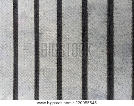 One-Bar Checkered (Diamond) Plate with Black Striped Tapes
