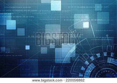 Digital Abstract technology background, cyber background, futuristic background