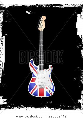 British Rock and Roll Electric Guitar vector