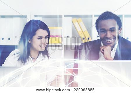 Smiling Business Partners In Office