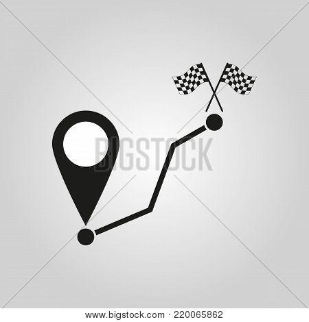 Path icon. Way, road, route, track symbol. Flat design. Stock - Vector illustration