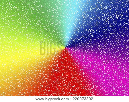 Abstract background. Round with stipple effect. Mosaic abstract composition. Rhythmic colorful round tiles. EPS10 with transparency. Decorative shapes. Spectrum background. Colorful round particles