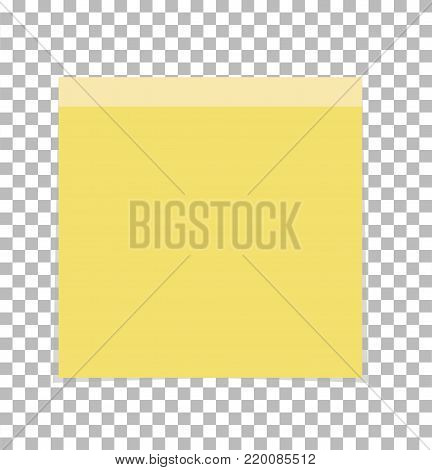 post note paper sheet or sticky sticker on transparent. office paper sheet sign. note symbol.