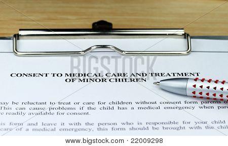 Minor Healthcare Consent Form