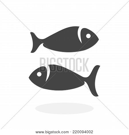Fish icon isolated on white background. Fish vector logo. Flat design style. Modern vector pictogram for web graphics - stock vector