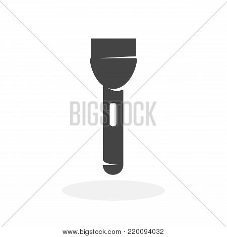 Flashlight icon isolated on white background. Flashlight vector logo. Flat design style. Modern vector pictogram for web graphics - stock vector