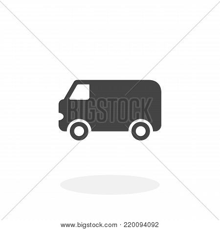 Van icon isolated on white background. Van vector logo. Flat design style. Modern vector pictogram for web graphics - stock vector