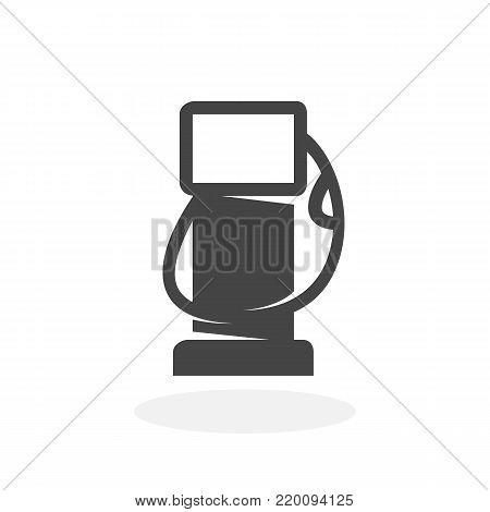 Gas station icon isolated on white background. Gas station vector logo. Flat design style. Modern vector pictogram for web graphics - stock vector