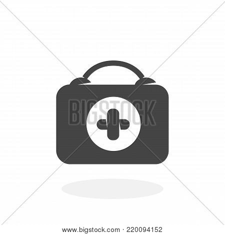 Medical bag icon isolated on white background. Medical bag vector logo. Flat design style. Modern vector pictogram for web graphics - stock vector