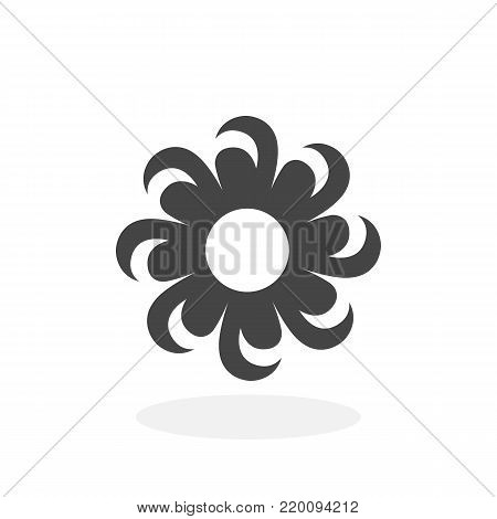 Daisy flower icon isolated on white background. Daisy flower vector logo. Flat design style. Modern vector pictogram for web graphics - stock vector