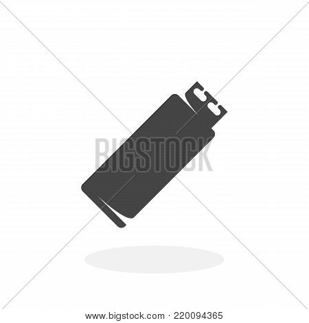 USB flash drive icon isolated on white background. USB flash drive vector logo. Flat design style. Modern vector pictogram for web graphics - stock vector