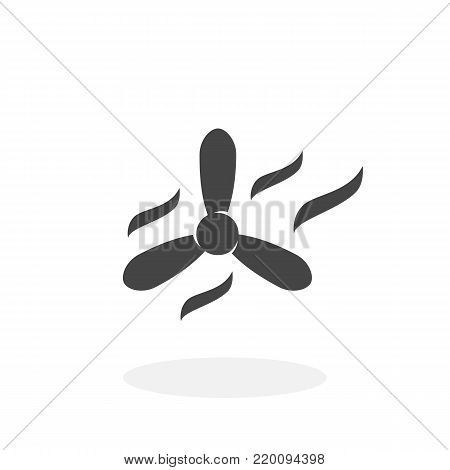 Propeller icon isolated on white background. Propeller vector logo. Fan in flat design style. Modern vector pictogram for web graphics - stock vector