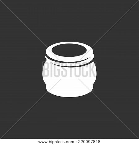 Hand cream icon isolated on black background. Hand cream vector logo. Flat design style. Modern vector pictogram for web graphics - stock vector