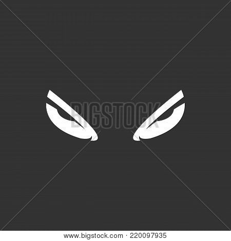 Evil eyes icon isolated on black background. Evil eyes vector logo. Flat design style. Modern vector pictogram for web graphics - stock vector