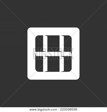 Prison icon isolated on black background. Prison vector logo. Flat design style. Jail vector pictogram for web graphics - stock vector