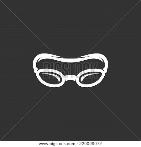 Swimming glasses icon illustration isolated on black background sign symbol. Swimming glasses vector logo. Modern vector pictogram for web graphics - stock vector