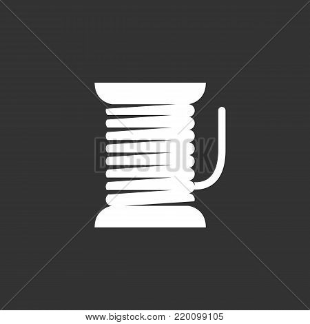 Thread icon illustration isolated on black background sign symbol. Thread vector logo. Modern vector pictogram for web graphics - stock vector