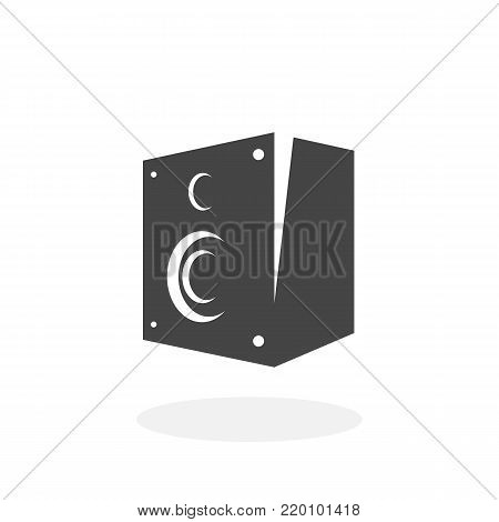 Audio speaker icon illustration isolated on white background sign symbol. Audio speaker vector logo. Flat design style. Modern vector pictogram for web graphics - stock vector