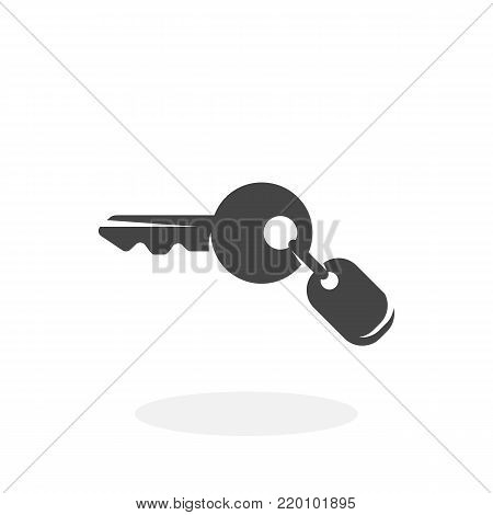 Key icon illustration isolated on white background sign symbol. Key vector logo. Flat design style. Modern vector pictogram for web graphics - stock vector
