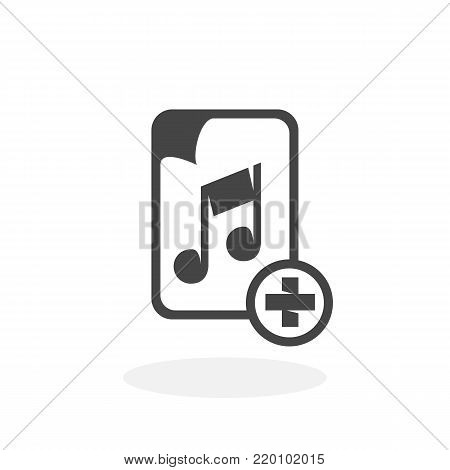 Music file icon illustration isolated on white background sign symbol. Music file vector logo. Flat design style. Modern vector pictogram for web graphics - stock vector
