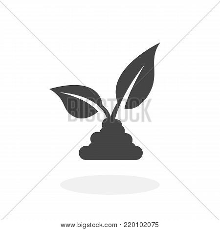 Seedling icon illustration isolated on white background sign symbol. Seedling vector logo. Flat design style. Plant vector pictogram for web graphics - stock vector