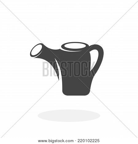 Watering can icon illustration isolated on white background sign symbol. Watering can vector logo. Flat design style. Modern vector pictogram for web graphics - stock vector