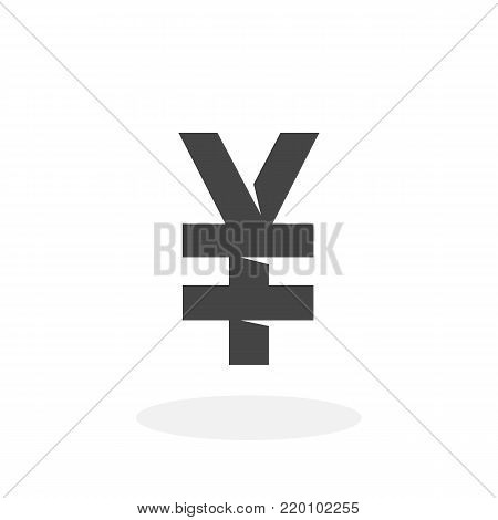 Chinese yuan icon illustration isolated on white background sign symbol. Chinese yuan vector logo. Flat design style. Modern vector pictogram for web graphics - stock vector