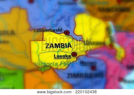 Zimbabwe, officially the Republic of Zimbabwe (selective focus).