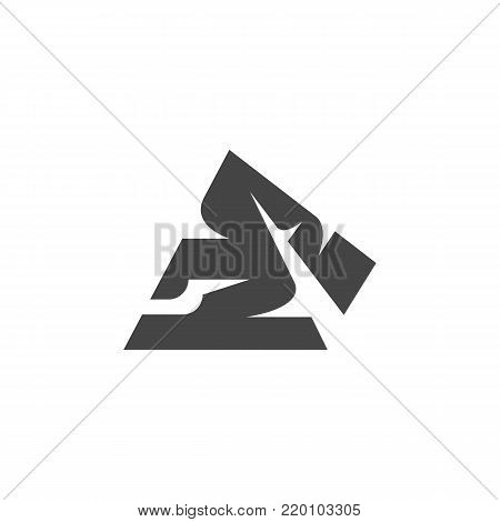 Pyramid of Egypt icon on white background. Pyramid of Egypt vector logo illustration isolated sign symbol. Modern pictogram for web graphics